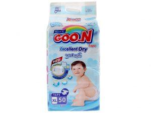 Goon's Baby Diaper Size XL 12 – 20kg 50 pcs