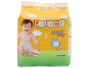 Goon's baby diapers Elleair Friend Size L 8 – 13kg 24 pcs