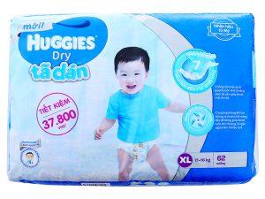 Huggies's baby diaper Size XL 11 – 16kg 62 pcs