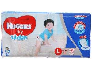 Huggies Dry's baby diapers Size L 9 – 14kg 42 pcs