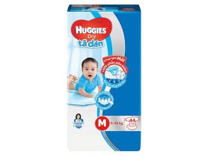 Huggies Dry's Baby Diapers Size M 5 – 10kg 44 Pcs