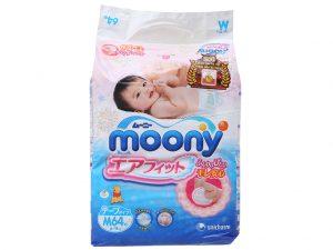 Moony's baby dipaer Size M 6 – 11kg 64 pcs