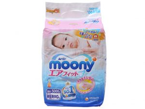 Moony's baby diapers Size NB1 less than 5kg 90 pcs