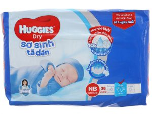 Huggies Dry's Baby diapers Size NB less than 5kg 36 pcs