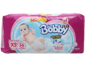 Bobby's Baby Diapers Size XS Less Than 5kg 36 Pcs
