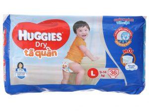 Huggies Dry Pants Size L 9 – 14kg 36 pcs