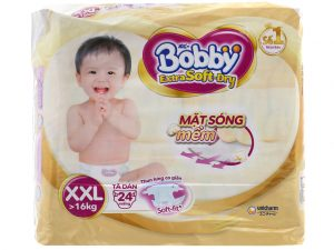 Bobby's Baby Diapers Extra Soft Dry Size XXL more than 16kg 24 pcs