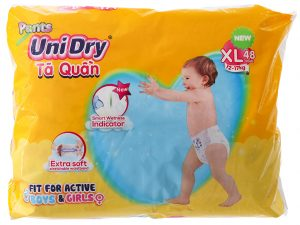 Unidry Pants Size XL 12 – 17kg 48 Pcs