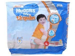 Huggies Dry Pants Size L 9 – 14kg 20 pcs