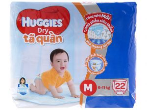 Huggies Dry Pants Size M 6 – 11kg 22 pcs