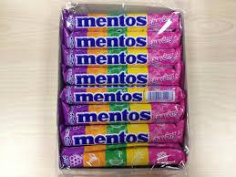 Mentos rainbow 16rolls 24box/case =480G