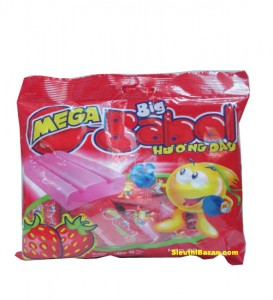 Big Babol Strawberry flavour 40 pcs/bag