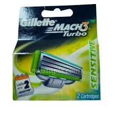 Gillette Mach 3 Blade Aloe 2pc (12pack/box, 6/case)