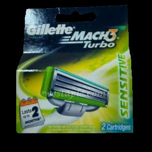 Gillette Mach 3 Blade Aloe 4pc 12pack/box, 6/case)