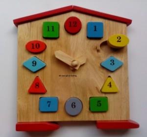 Arithmetical wood clock