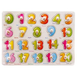 Table of 20 numbers with wooden knob 1212