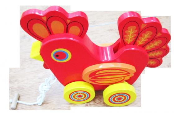 Chicken-shaped rickshaw