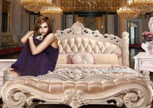 New high class white neo-G84-1 bed