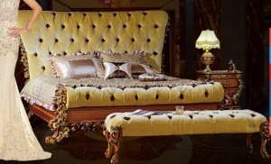 Modern European style mattress bed G105-1