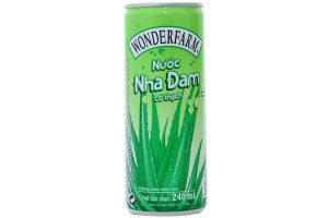 Aloe Fruit Juice Wonderfarm Can 240ml