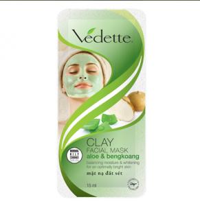 Clay facial mask aloe and bengkoang 15ml