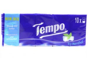 Tempo Icy Menthol 10 Bag 3 ply