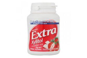 Sugar-free gum Extra Xylitol Strawberry 56g