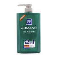 Romano Classic 2 in 1 Shower gel Shampoo 650g