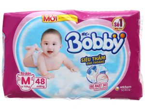 Bobby's baby diapers Size M 6 – 10kg 48 Pcs