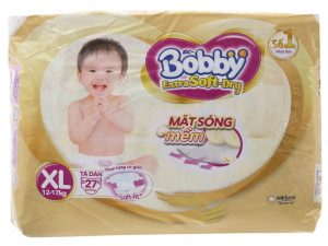 Bobby's Baby Diapers Extra Soft Dry Size XL 12 – 17kg 27 Pcs