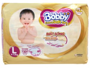 Bobby's Baby Diapers Extra Soft Dry Size L 9 – 13kg 30 Pcs