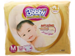 Bobby's Baby Diapers Extra Soft Dry Size M 6 – 10kg 64 Pcs
