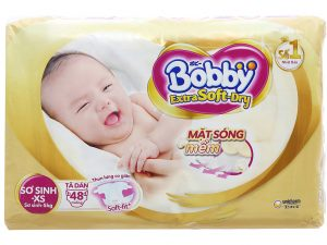 Bobby's Baby Diapers Extra Soft Dry Size XS less than 5kg 48 Pcs