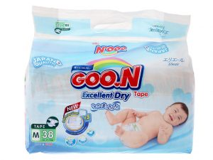 Goon's baby diapers Size M 7 – 12kg 38 pcs