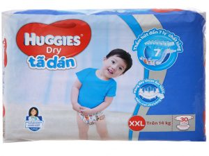 Huggies Dry's baby diapers Size XXL more than 14kg 30 pcs