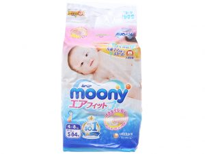 Moony's Baby diapers Size S 4 – 8kg 84 pcs