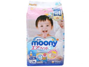 Moony's baby diapers Size L 9 – 14kg 54 pcs