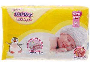 Unidry Ultra Soft Newborn Diapers 36 pcs