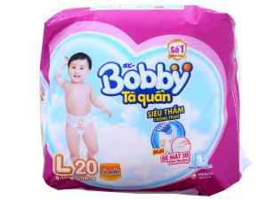 Bobby's Baby Diapers Size L 9 – 13kg 20 Pcs
