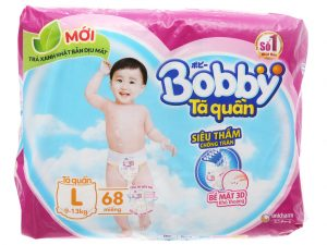 Bobby's Baby Diapers Size L 9 – 13kg 68 Pcs