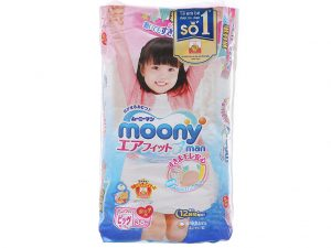 Moony Man Pants for girls Size XL 12 – 17kg 38 pcs