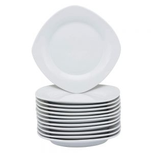 10 Strawberry Street Catering Square Salad Plate White