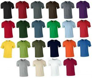 T shirt Men and woman Soft Style Short Sleeve Crew Neck T Shirt Plain Cotton Tee