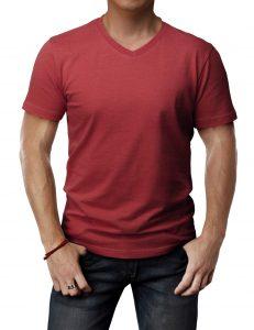 Mens Casual Slim Fit Short Sleeve T Shirts Cotton Blended Soft Lightweight V Neck Crew Neck