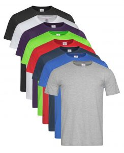 Mens Crew Neck Plain Classic T Fitted Short Sleeve Cotton Tee T Shirt