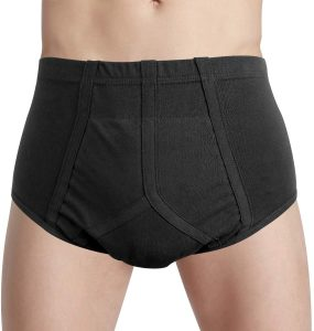 Mens Urinary Incontinence Underwear Breathable Regular Absorbency Reusable Incontinence Briefs for Light to Moderate Leakage