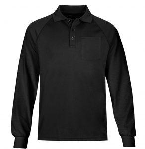 Sovina Mens Long Sleeve Moisture Wicking Performance Solid Golf Polo Shirt with Pocke