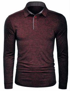 Sovina Mens Polo Shirts Long Sleeve Quick Dry Athletic Golf T Shirts