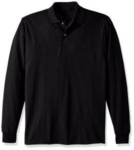 Sovina Mens SpotShield Stain Resistant Polo Shirts Long Sleeve