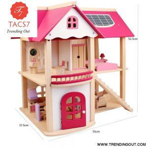 Kids Wooden Toys Miniature Dollhouse Diy Mini Doll House With Furniture